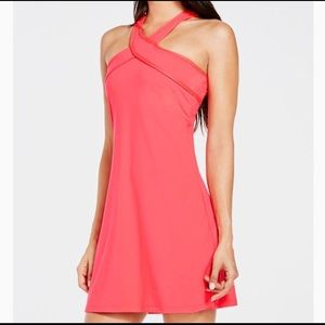 NWT fabletics Chicago dress. Hot pink